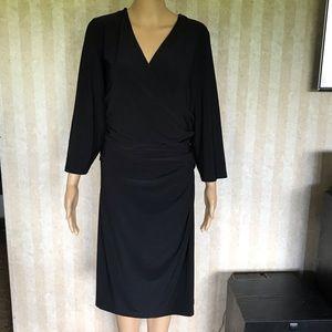 Chaps Plus Size Mock Wrap Dress